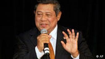 President Susilo Bambang Yudhoyono has promised to improve human rights