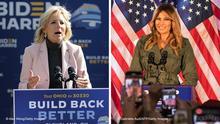 Bildkombo US-Wahlkampf |Jill Biden & Melania Trump