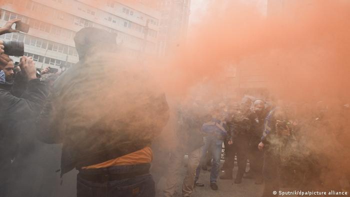 Anti-corruption protesters in Kiev, Ukraine