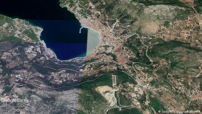 شهر واتی در شمال جزیره ساموس یونان