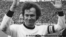 Fußball Franz Beckenbauer   WM 1974