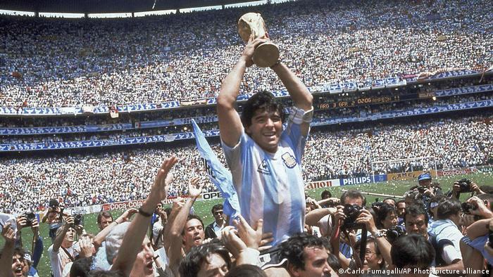 Diego Maradona en la final de México 1986.