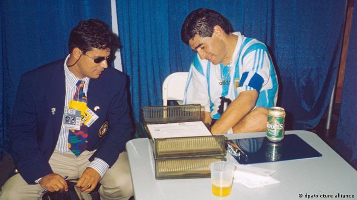 Maradona en el test.