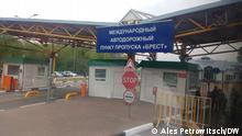 geschlossene weißrussische Grenze, Grenzkontrolle in Brest, Oktober 2020. Alle Rechte gehören DW Korrespondent Ales Petrowitsch.