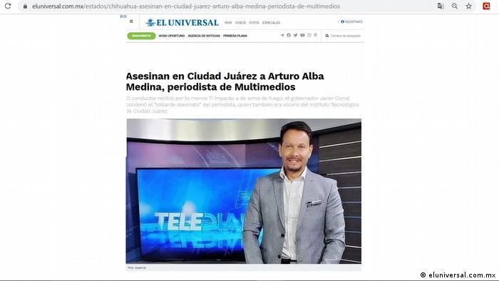 Screenshot Mexiko El Universal