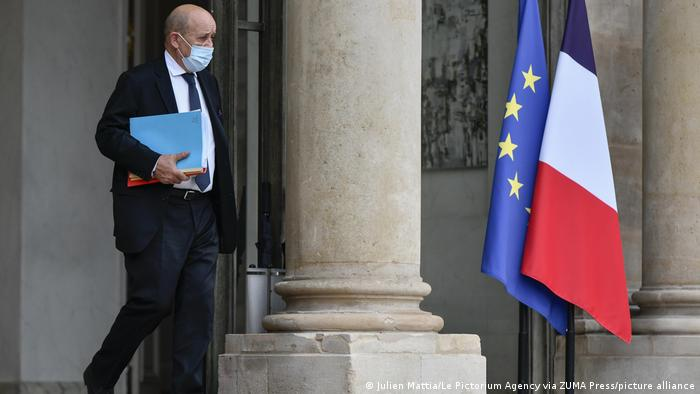 France's Foreign Minister Jean-Yves Le Drian pictured in Paris