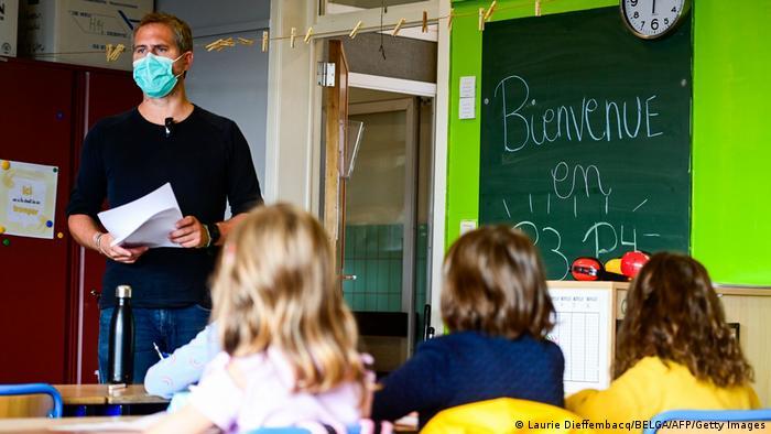 Salón de clases en Bruselas