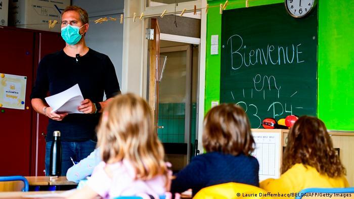 Belgien Coronavirus Schule in Brüssel