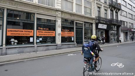 Belgien Coronavirus - geschlossener Laden in Brüssel (Sputnik/dpa/picture-alliance)