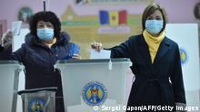 Republik Moldau Chisinau Präsidentschaftswahl | Kandidatin Maia Sandu