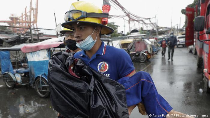 Typhoon Goni hit the Philippines on Sunday