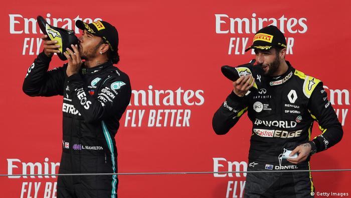 Formel 1 Emilia Romagna Grand Prix   Lewis Hamilton und Daniel Ricciardo