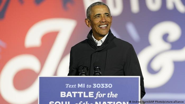 USA Präsidentschaftswahl 2020 |Wahlkampf Joe Biden | Barack Obama (Andrew Harnik/AP Photo/picture-alliance)