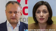 Moldau I Igor Dodon und Maia Sandu