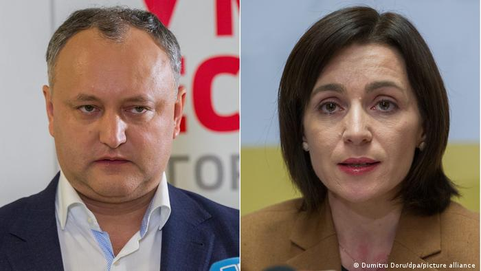 Moldova Igor Dodon și Maia Sandu