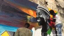 Young people paint murals to promote unity Place: Bissau, Guinea-Bissau Date: 01.11.2020 Author: Miguel Barros/ Privat Keywords: Paintings in Bissau, murals, young Guineans, Miguel Barros
