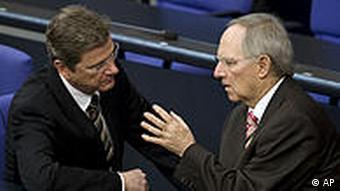 Deutschland Bundestag Finanzkrise Griechenland Westerwelle und Schäuble