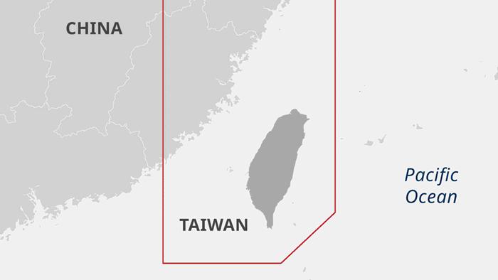 Infografik/Karte - Taiwan`s Air Defence Identification Zone - EN