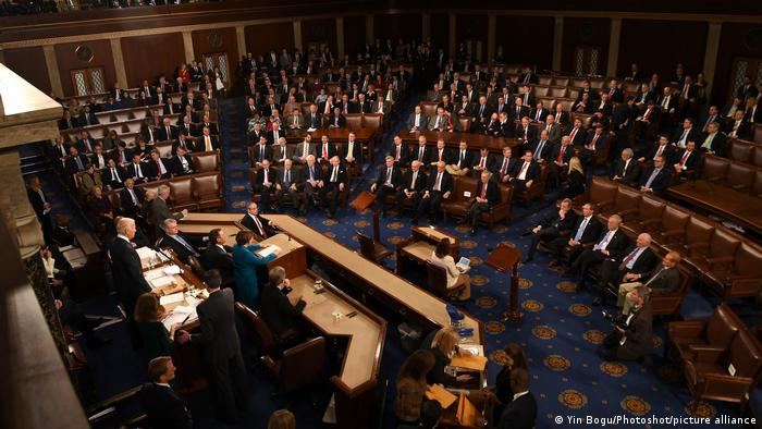 The US Congress counts electoral ballots in order to confirm the election of Donald Trump in Janaury 2017