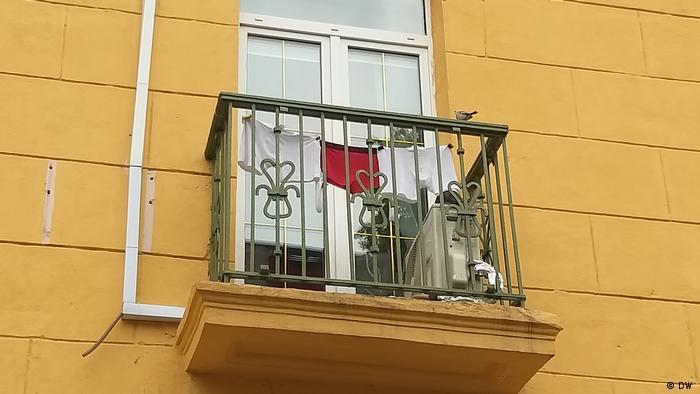 Одяг на балконі - з політичним підтекстом