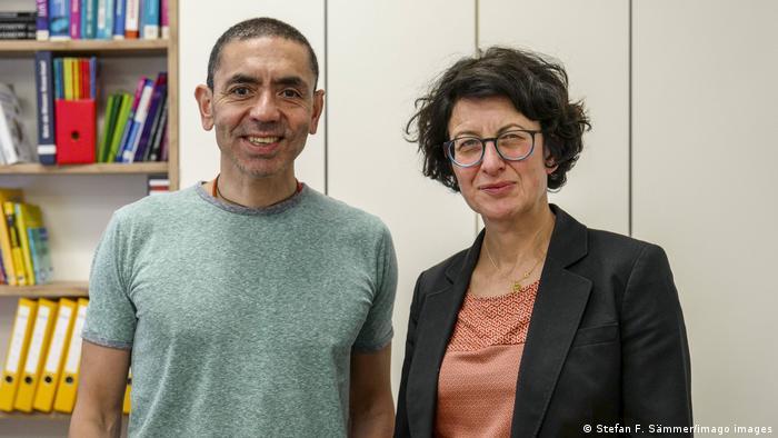 Casal Ugur Sahin e Özlem Türeci, fundadores da Biontech