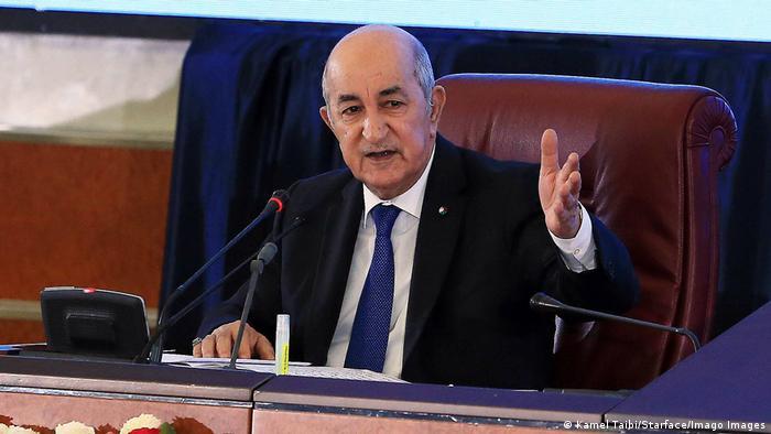 Algerien Präsident Abdelmadjid Tebboune in Algier