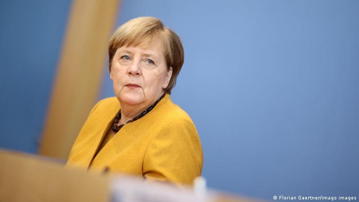 Ангела Меркель на пресс-конференции, 2 ноября 2020 г.