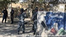 Afghan police arrive at the site of an attack at Kabul University in Kabul, Afghanistan, Monday, Nov. 2, 2020. Gunfire erupted at the university in the Afghan capital early Monday and police have surrounded the sprawling campus, authorities said. (AP Photo/Rahmat Gul) |