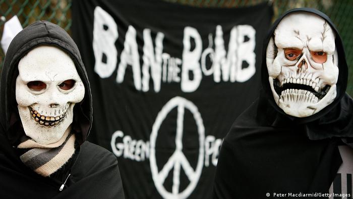 England 50ter Jahrestag der Proteste gegen Aldermaston