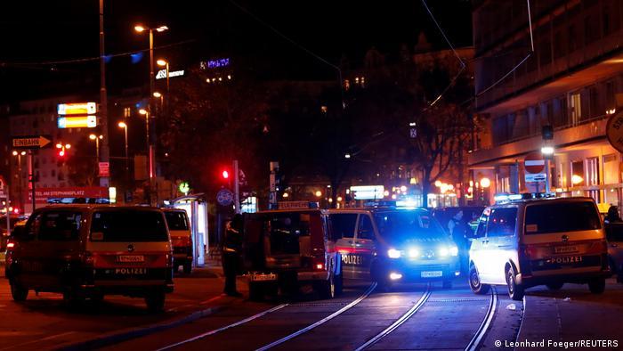 Центральный район Вены перекрыт полицией после террористической атаки