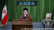 Iran's Supreme Leader Ayatollah Ali Khamenei delivers a virtual speech, on the occasion of the Prophet Mohammad's birthday, in Tehran, Iran November 3, 2020. Official Khamenei Website/Handout via REUTERS ATTENTION EDITORS - THIS IMAGE WAS PROVIDED BY A THIRD PARTY. NO RESALES. NO ARCHIVES.