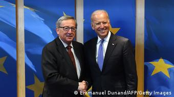 Στιγμιότυπο από παλαιότερη επίσκεψη του Τζο Μπάιντεν στην έδρα της Κομισιόν, στις Βρυξέλλες