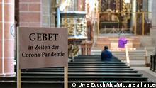 Deutschland München | Coronavirus | Gott im Lockdown