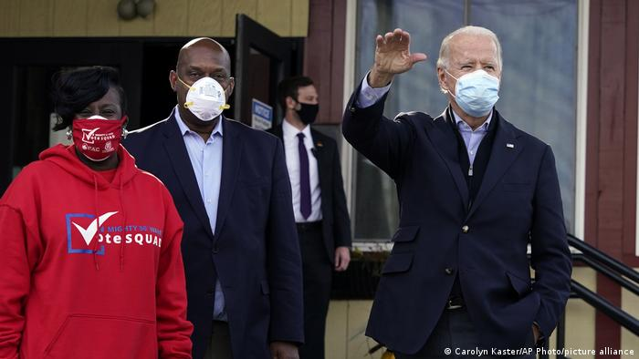 US Wahl 2020 | Präsidentschatskandidat Joe Biden (Carolyn Kaster/AP Photo/picture alliance)