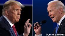 Kombobild | US-Wahlen 2020 - Donald Trump und Joe Biden