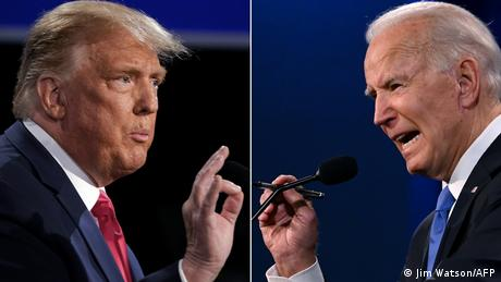 This combination of file pictures created on October 22, 2020 shows US President Donald Trump (L) and President-Elect Joe Biden