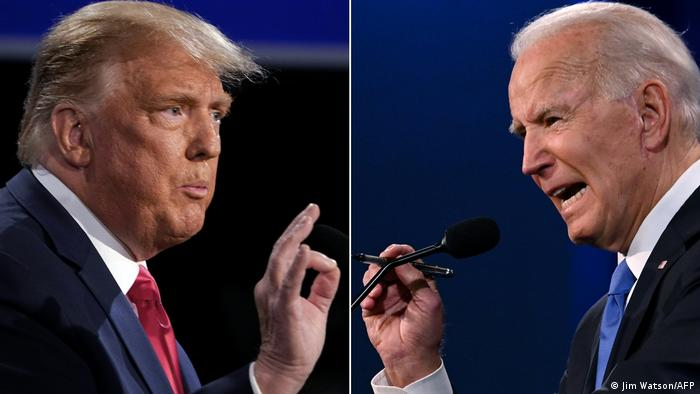 جو بایدن (راست) و دونالد ترامپ