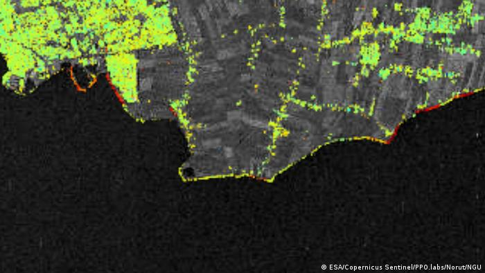 Sentinel-1 data show land surface changes