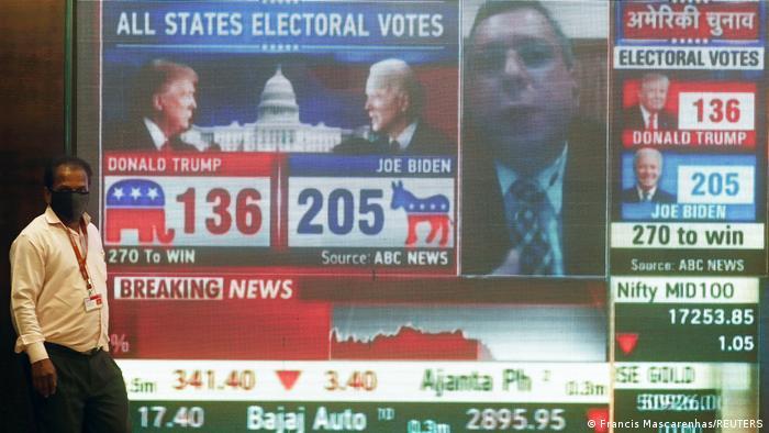 Bildergalerie US Wahl 2020 |Interesse weitweit |Mumbai, Indien (Francis Mascarenhas/REUTERS)