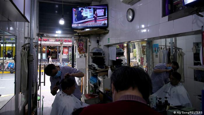 Bildergalerie US Wahl 2020 |Interesse weitweit |Shanghai, China (Aly Song/REUTERS)