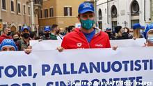 Italien Rom | Proteste Corona-Maßnahmen | Massimiliano Rosolino