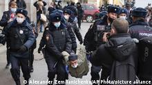 Russland Moskau | Polizei löst Rally von Nationalisten auf