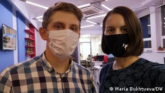 Мария Бухтуева и Сергей Григорьев - инициаторы создания чата Довези врача