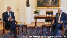 Deutschland Besuch des griechischen Außenministers Nikos Dendias in Berlin | Bundespräsident Frank-Walter Steinmeier