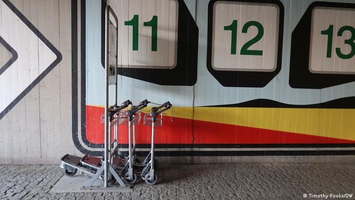 Passenger luggage carts at Berlin's Tegel airport