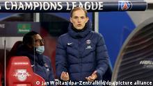 RB Leipzig - Paris Saint-Germain   Trainer Thomas Tuchel von PSG