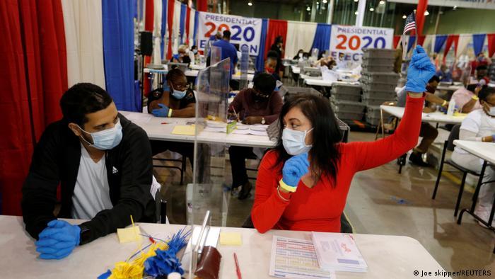 USA Szenen während der Wahl 2020 (Joe skipper/REUTERS)