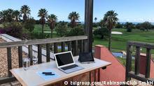 Workstation Home-Office im Urlaub Robinson Club Geschäftsidee