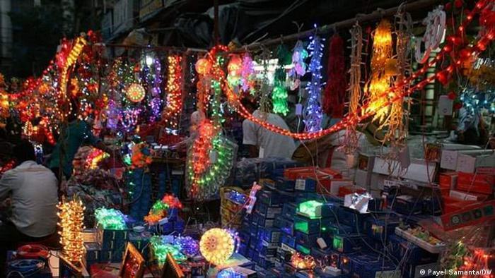 Indien Kalkutta Coronavirus Diwali Festival (Payel Samanta/DW)