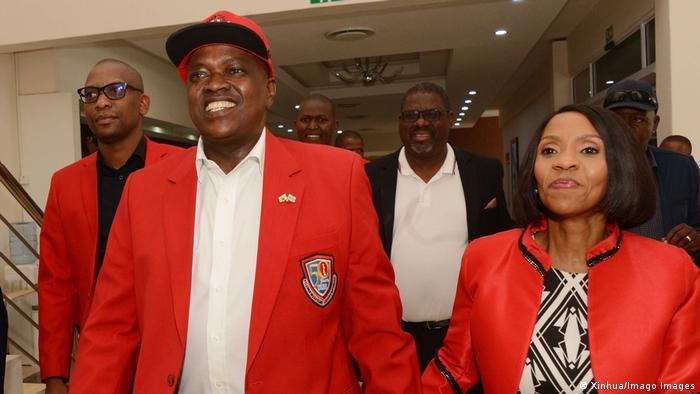Botswana President Mokgweetsi Masisi and his wife Neo Masisi.